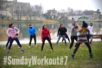Sunday Workout Avignon 7 coach sportif fitness circuit training urban trail sport hiver