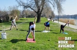 Sunday workout Avignon 10 Circuit training fitness cardio hiit tabata jogging runing fun coach sportif yoga pilates sport plein air evenement