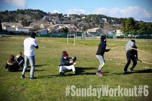 sunday workout avignon 6 coach sportif ambassadeur battle rope circuit training sport personal trainer