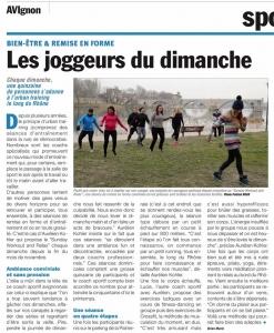 avinews les joggeurs du dimanche sunday workout barthelasse